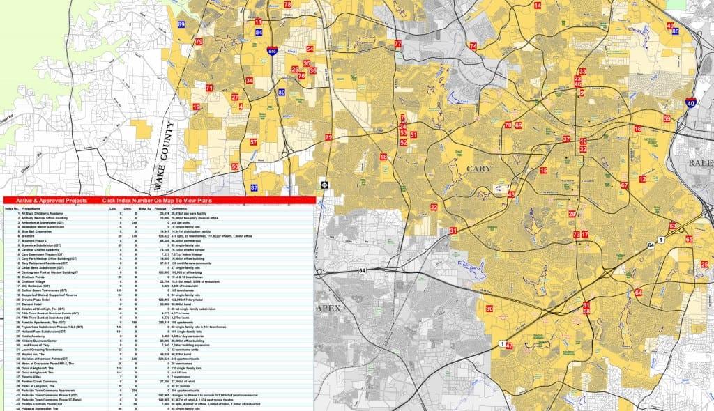 Cary Development Map