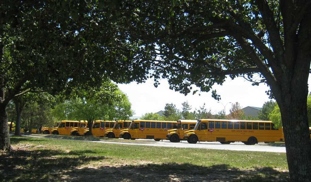 Cary school busses